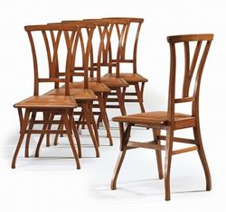 Six Chairs from Henri Van de Velde's house in Ukkel (sold for £36,000 at Christies in London in April 2008)